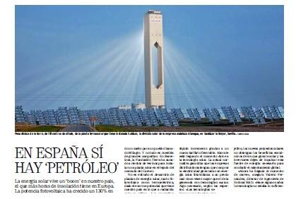 Nota de prensa sobre Abengoa parque Solar