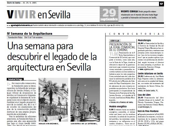 Nota prensa Colegio de Arquitectos de Sevilla
