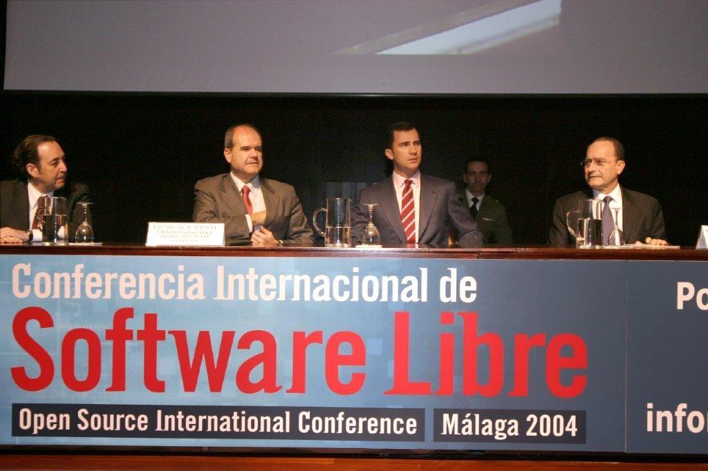 Príncipe Felipe Jornadas Software Libre 2004 Málaga